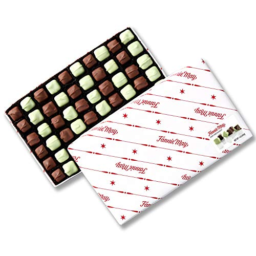 Fannie May Mint Meltaways, Milk Chocolate and Pastel Candy with a Mint Chocolate Center, Chocolate Candy Gift Box, 1 lb
