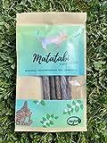 Matatabi Katzensticks 5 Stück - 100 % unbehandeltes Holz der Matatabi-Pflanze Silvervine - Katzenspielzeug, Zahnpflege auch gegen Mundgeruch, Komfortverhalten wie Katzenminze