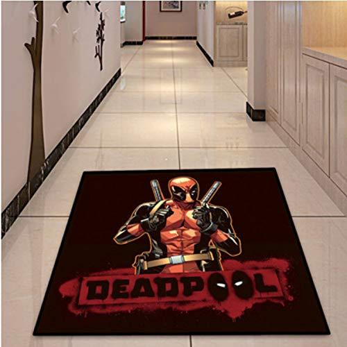 ZRY Alfombra Habitación para Niños Dibujos Animados Avengers Rectangulares Deadpool Película Alfombra Dormitorio Familiar Sala De Estar Sala De Juegos Decoración del Piso