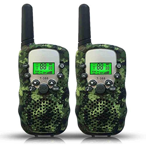Joyfun Toys for 3-10 Year Old Boys Walkie Talkies for Kids Long Distance Outdoor Games Camping Hiking Teens Gifts for Boys 5, 6, 8 Year Old Camo - 1 Pair (Renewed)