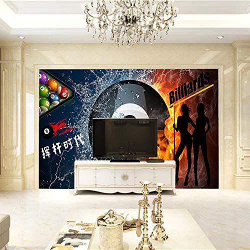 3D Fototapete Billard Vlies Wandtapete Moderne Wanddeko Wohnzimmer Schlafzimmer Büro-200X140Cm