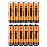 12-Pack iMah AAA Rechargeable Batteries 1.2V 750mAh, also Compatible with Panasonic Cordless Phone Battery 550mAh HHR-55AAABU and 750mAh HHR-75AAA/B HHR-4DP KX-TGEA40B KX-TGE433B KX-TGE445B KX-TG7875S