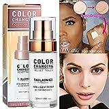 Fondotinta liquido cambia colore, cambia colore impeccabile Tonalità della pelle profonda Trucco viso Fondotinta liquido Base trucco Nudo viso idratante