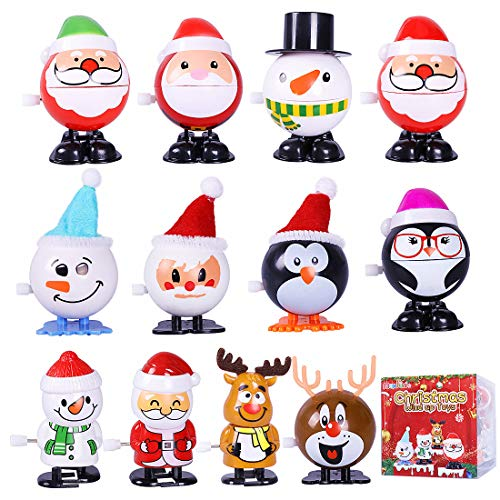 Max Fun 12pcs Christmas Wind Up Toys Assortment Stocking Stuffers for Christmas Party Favors Goody Bag Filler (Christmas Wind up Toys)