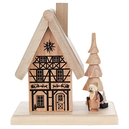 Santa House Cabin German Smoker - Wooden - German Made