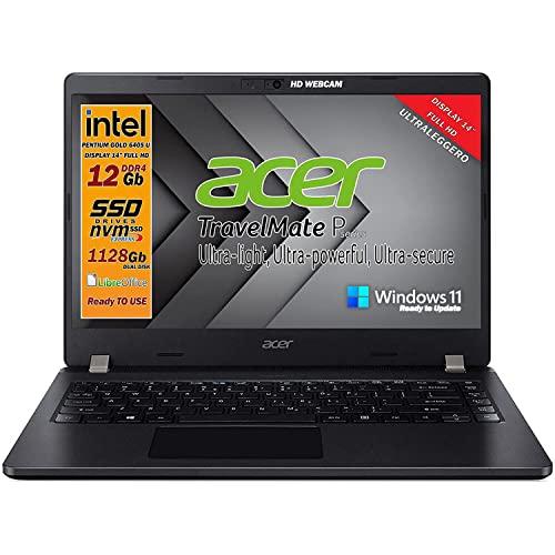 Ordenador portátil SSD Acer Intel Gold 6405U, RAM 12 GB, Dual SSD 628 GB, pantalla 14 pulgadas Full HD, 4 USB, WiFi, HDMI,...