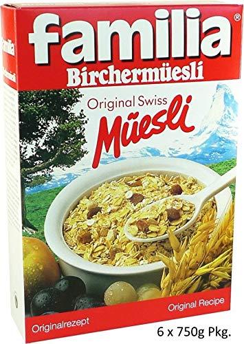 Müsli Bircher Müesli Familia Original Swiss Schweiz 6x750g Müsli