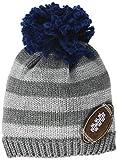 Mud Pie Baby Boys' Grey Football Knit HAT, 06-18 Months