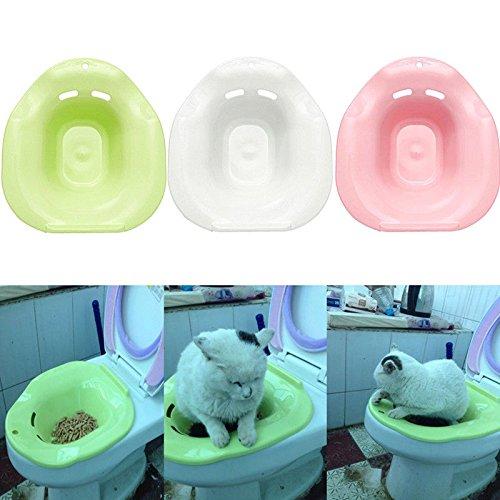 FidgetGear Cat Toilet Training Kit Cleaning System Pets Kitten Potty Urinal Litter Tray Approx. 40X37X16cm /15.75''X14.57''X6.30''(LWH)