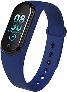 QQO Seguidor De Actividad, Pulsera Smartband Pulsera Deportiva Reloj Monitor de Ritmo cardíaco Actividad del rastreador de Actividad física Presión Arterial Adecuado para iPhone Android