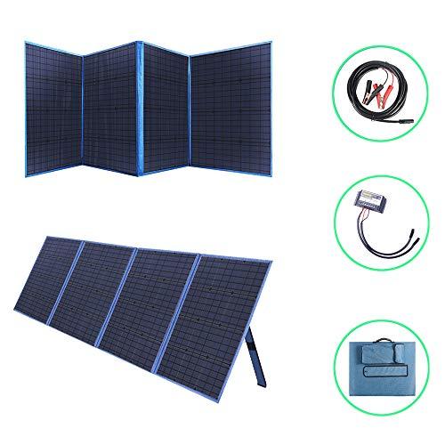 Betop-camp Panel Solar Plegable de 200 Vatios con Controlador de Carga Salida de CC Cargador Portátil para Exteriores en Maleta con un Controlador de Carga Solar 20A