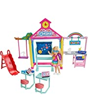 Barbie Club Chelsea Doll and School Playset, 6-inch Blonde with Accessories