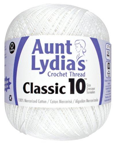 Aunt Lydia Value Crochet Cotton, White - 151.0201
