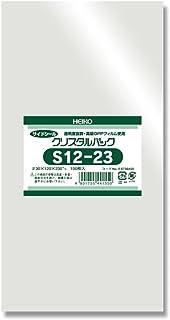 シモジマ ヘイコー 透明 OPP袋 クリスタルパック 12×23cm 100枚 S12-23