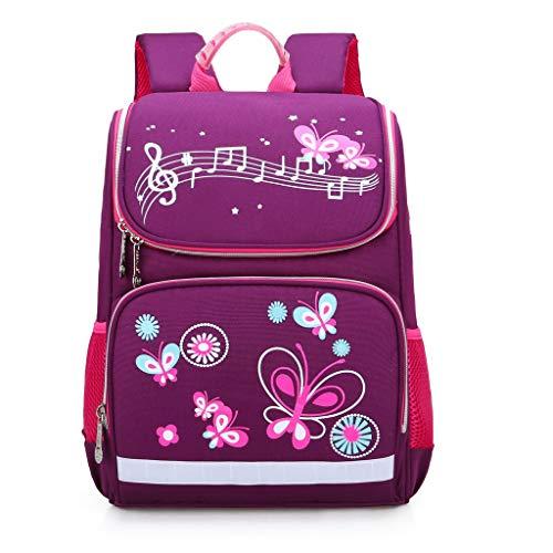 GroßE KapazitäT Rucksack/Daypack,TTLOVE Wasserdicht Und Lastreduzierend Schultasche MäDchen Kinder Schulrucksack Cartoon Mode Rucksack(Lila,25x10x12 cm)