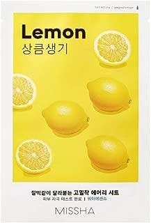 Missha Airy Fit Sheet Mask (Lemon - Revitalizing) 7 pcs