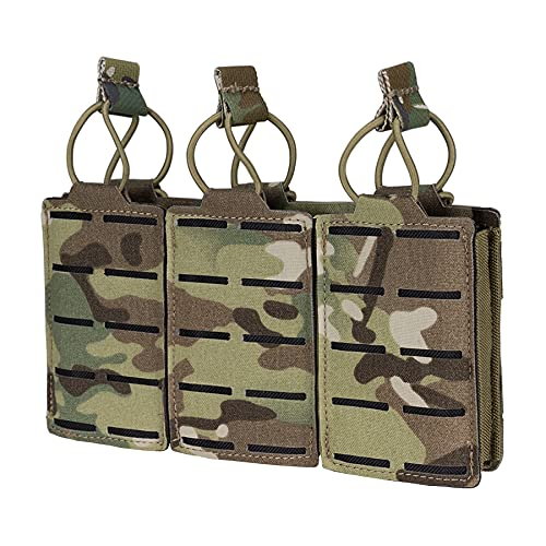 IDOGEAR Tactical Mag Pouch Open-Top Triple Molle Magazine...