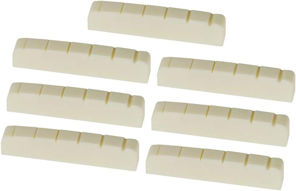 SDENSHI 7Pcs 43mm Bridge half Bone Nut For Guitars LP Indefinitely M Bass Electric
