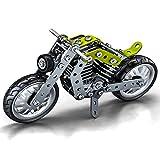 Caleson Harley Motorcycle 3D Metal Puzzle Kits de construcción de Modelos Rompecabezas de Corte láser Rompecabezas DIY y Kit de Modelo 3D