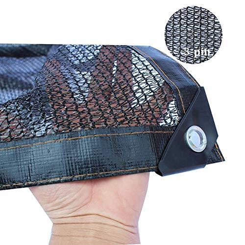 Toile d'ombrage noire, bord collé de tissu d'ombre à 50% avec oeillets, utilisé dans l'agriculture en serre de l'aquaculture de plantes (Size : 2×4M)