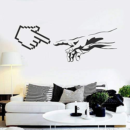 Arte de la etiqueta de la pared del ordenador oficina creativa decoración del dormitorio del adolescente
