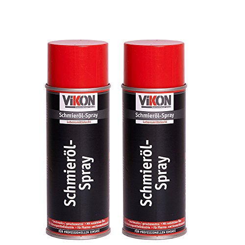 2 Dosen VIKON Lebensmittelechtes Schmieröl-Spray 400 ml (Pflegemittel / Wartungsöl / Pflegeöl - lebensmittelecht)