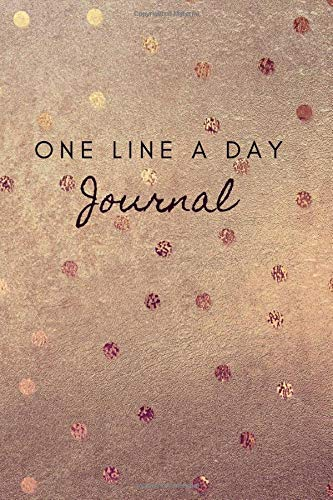 One Line A Day Journal: A Five-Year Memory Book, Diary, Notebook, 368 Lined Pages, Simple Design