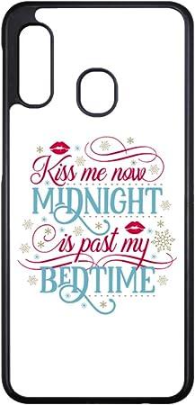 coque-personnalisable® Coque pour Samsung Core Prime G360 Kiss me Now Midnight is Past My Bedtime Amour Embrasse-Moi - Contour Plastique Semi-Rigide ...