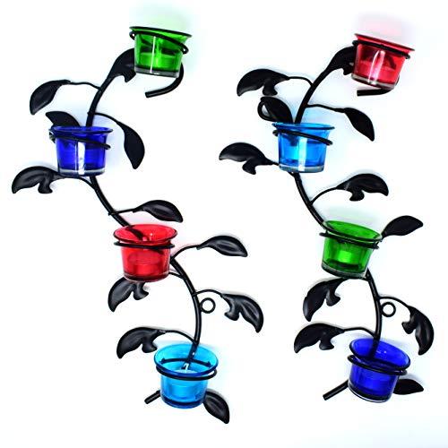 Hashcart - Portavelas decorativo para colgar en la pared (