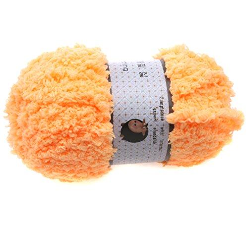 HENGSONG Baby Strickwolle Garn Handwerk Softy Chenille Handwerk Knit Handtuch Schals Pullover für Sie/Rolle Strickwolle Garn (40g / Rolle)/ Häkelnadeln mit Koffer/Garn Ball Hersteller wählen (orange)