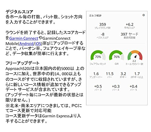 GARMIN(ガーミン)ApproachゴルフナビApproachS20Jホワイト【日本正規品】372310
