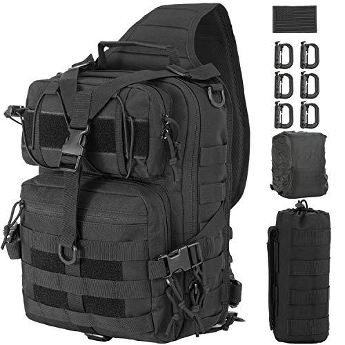 GZ XINXING Tactical Sling Military Shoulder Backpack EDC Assault Range Bags (Black)