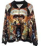 Abrigos Chaquetas de Michael Jackson Abrigos de Sudadera con Impresión 3D Punk Abrigos (M, Dangerous Chaquetas)