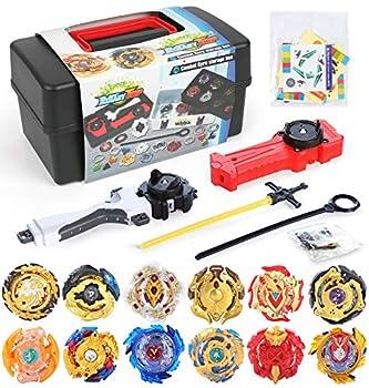 12 Pack Burst Battle Gyros Set Exercise N Play Burst Spinning Battle Tops Gaming Toys for Boys Kids Children 8+ Years