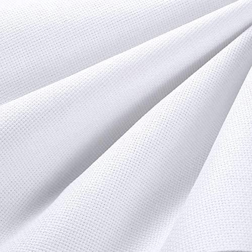 Pllieay 14 Count Big Size Classic Reserve Aida Cloth White Cross Stitch Cloth Fabric 78 7 by product image