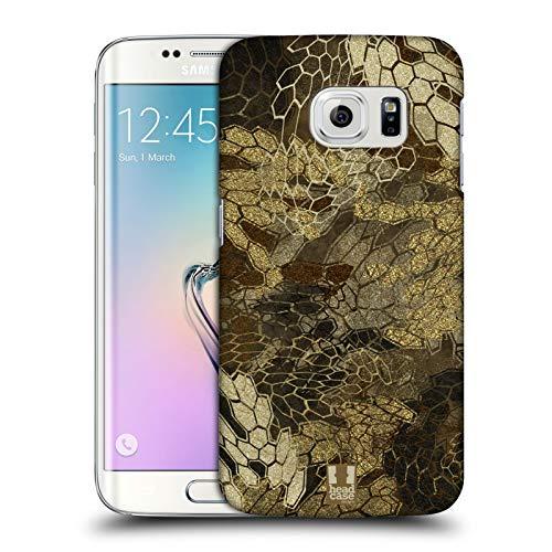 Head Case Designs Vista de Vuelo de Pato/Aves acuáticas Insignia de Camuflaje Hunting Carcasa rígida Compatible con Samsung Galaxy S6 Edge