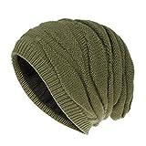 Gorro de punto para mujer, gorro de lana para esquí, gorro de felpa, para orejeras, cálido invierno, color, talla 33 EU