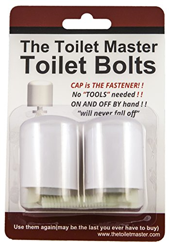 The Toilet Master Toilet Bolts is a No Tool, No Cut, No Nut, Easy to Repair, Replace, Service, and Install Toilet Bolt, Washer, and Cap Kit