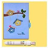 Prendere diario Notepad Libro Combinazione Ufficiale diario con la Serratura, 5.7 * 8 Journal for Kids Mini Notebook, Contiene Gift Box E Penna, diario con la Serratura Diario (Color : Blue)