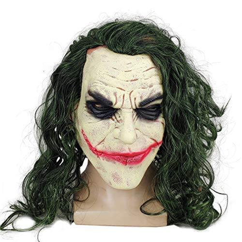 Dark Knight Batman Clown Joker Latex Masque Déguisement Halloween perruque couvre-chef Cosplay accessoires