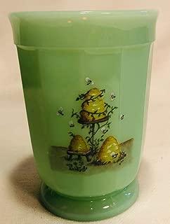 Tumbler - Paneled Pattern - Mosser Glass USA American Made (Jade Bees/Hives)
