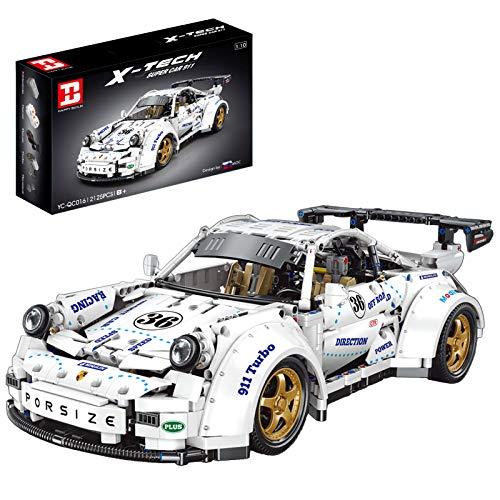 Onenineten Técnica de coche deportivo, bloques de construcción, 2125 piezas, pieza de exposición para coleccionistas compatible con Lego Technic