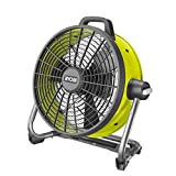 Ryobi R18F5-0 18 V Akku-Boden-Ventilator ohne Akku & Ladegerät | ideal zum Lüften und Trocknen, black