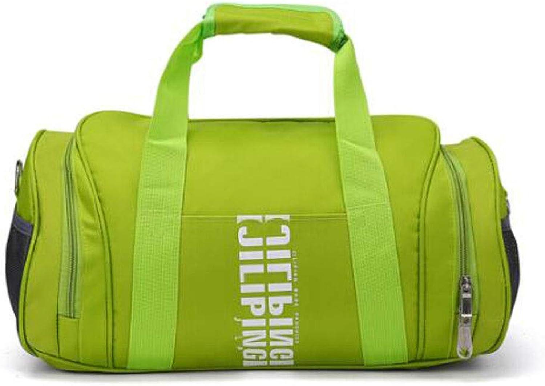 Wuhuizhenjingxiaobu Sports Bag, Men and Women Travel Bag, Sports Gym Bag, Cylinder Basketball Bag, Black Size  39  22  22cm Anticorrosive