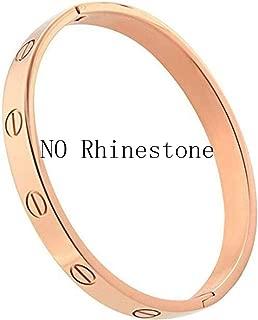 Fashion Luxury Titanium Steel Horizontal Screw Love Bangles Women Men Bracelets