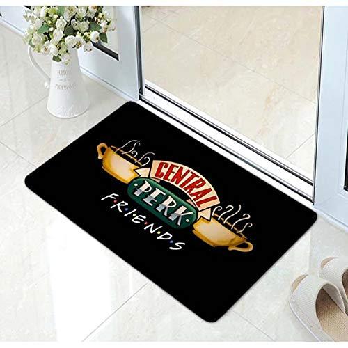 N / A Impresión 3D De Tapetes Funny Friends TV Mug Friends Central Perk Logo Alfombrilla De Puerta Cerámica Friends TV Decoloración Alfombra Creativa Navidad Cumpleaños