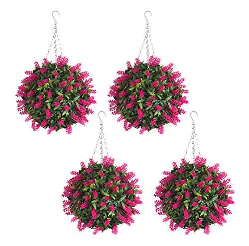 4 Best Artificial 30cm rose Boules de fleurs de lavande Peluche tropicale