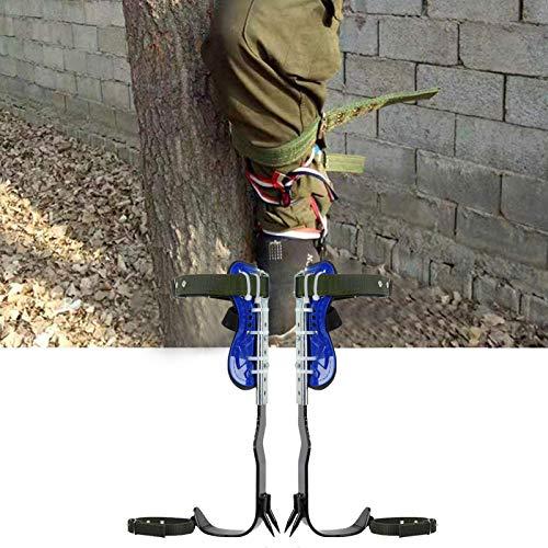 iBaste Baumklettern Steigeisen Klettern Bäume Artefakt, Baumklettern Ausrüstung Set, Sicherung Spike Set Baumkletterwerkzeug, Baumkletterwerkzeug Spike Mit Sicherheitsgurt Zum Klettern