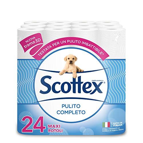 Scottex Pulito Completo Carta Igienica, Confezione da 24 Rotoli Maxi (8x3) - 2810 gr