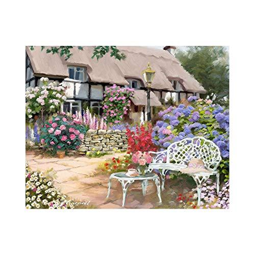 Hlsgmv Kit De Pintura Con Brillantes 5D Jardín Y Casa Decoración De La Sala De Decoración Pegatinas De Pared(30X40cm/11.8X15.8 Inch)